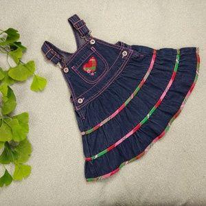 OshKosh B'gosh Denim Tiered Skirt Overalls